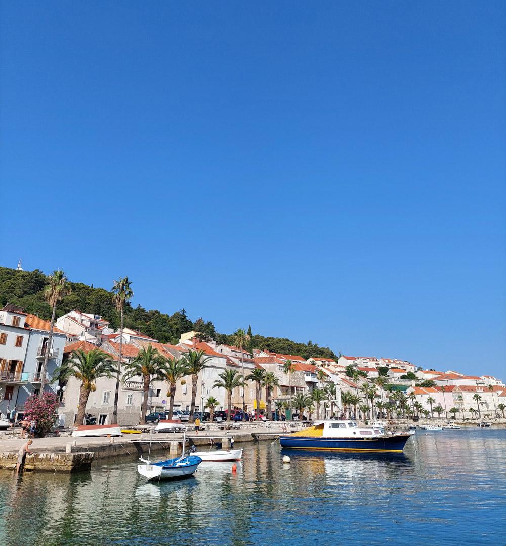 Hier in Korčula ist der Wind noch zurückhaltend