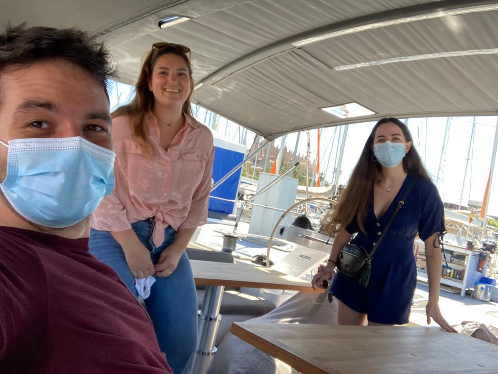 Rouven und andere auf dem boot